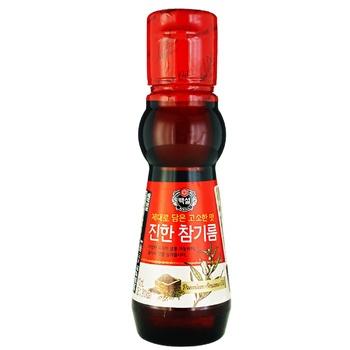Масло кунжутное Beksul 110мл - купить, цены на Ашан - фото 1