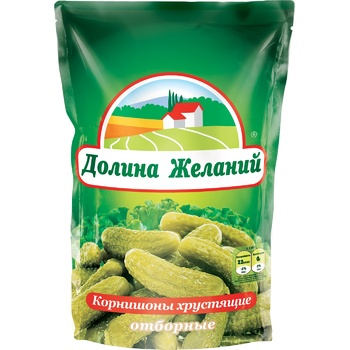 Vegetables cucumber cornichon Dolina jelaniy canned 500g glass bottle