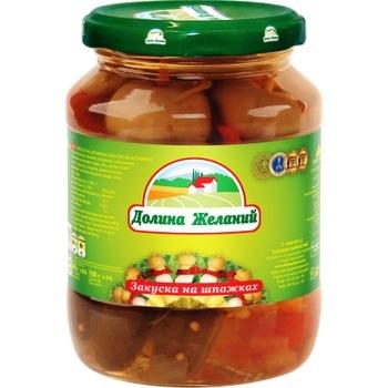 Закуска Долина Желаний на шпажках 340г - купить, цены на Ашан - фото 1