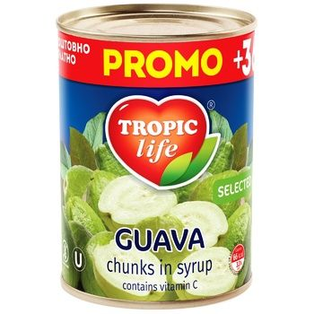 Fruit guava Tropic life canned 425ml can - buy, prices for MegaMarket - image 1