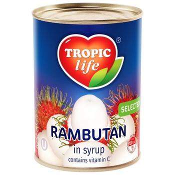 Рамбутан Tropic life в сиропі 580мл - купити, ціни на МегаМаркет - фото 1