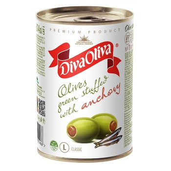 Diva Oliva Green Olives stuffed with anchovy 300g