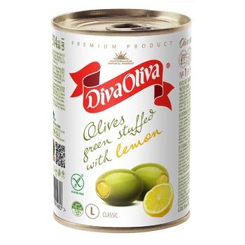 Diva Oliva Green Olives stuffed with lemon 300g
