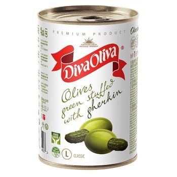 Diva Oliva L Stuffed With Cucumber Green Olives 314ml