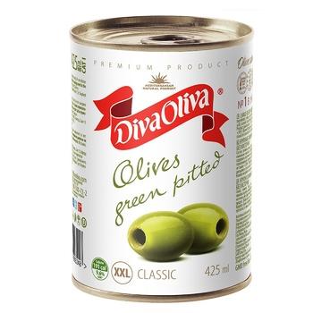 Diva Oliva Large Olives Green Whole 390g