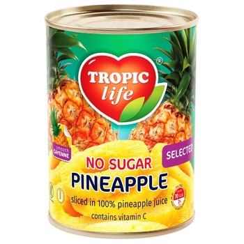 Tropic Life Pineapple Rings in Juice 580ml - buy, prices for Furshet - image 1