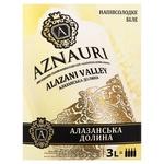 Вино Aznauri Алазанская Долина белое полусладкое 9-13% 3л