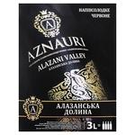 Вино Aznauri Алазанская Долина красное полусладкое 9-13% 3л