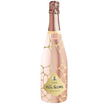 Вино ігристе Pata Negra Cava Brut Rose рожеве сухе 11,5% 0,75л - купити, ціни на Ашан - фото 1
