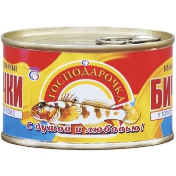 Бычки Господарочка в томатном соусе 240г - купить, цены на Фуршет - фото 1