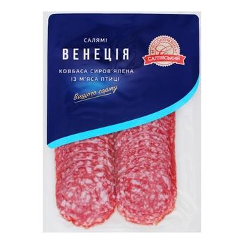 Колбаса Салтовский МК Салями Венеция из мяса птицы сыровяленая 80г