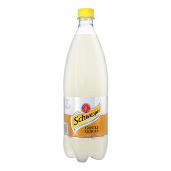 Напиток Schweppes Gentle Ginger сильногазированный со вкусом имбиря 1л
