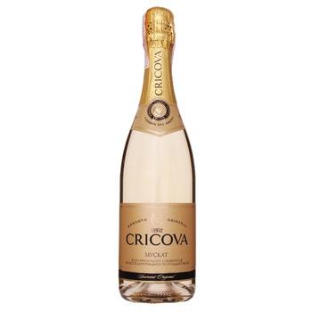 Вино игристое Cricova Мускат белое полусладкое 10,5-13,5% 0,75л