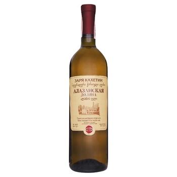 Вино Заря Кахетии Алазанская долина белое полусладкое 11-12.5% 0,75л - купить, цены на СитиМаркет - фото 3