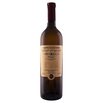 Вино D&T Заря Кахетии Цинандали белое сухое 12-13% 0,75л
