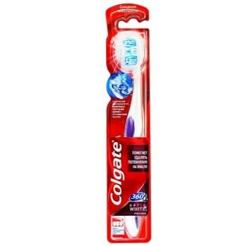 Colgate 360 ° Optic White whitening toothbrush of medium hardness