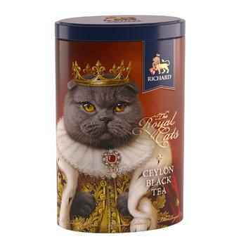 Чай чорний Richard Королівські коти ж/б 80г - купити, ціни на Восторг - фото 1