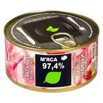 М'ясо індички Здорово у власному соку з/б 325г