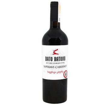 Dato Batono Saperavi Cabernet Red Dry Wine 11-12% 0,75l - buy, prices for EKO Market - photo 1