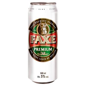 Пиво Faxe Premium светлое ж/б 5% 0,5л