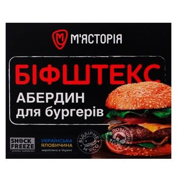 Бифштекс Мястория Абердин для бургеров из говядины 750г - купить, цены на СитиМаркет - фото 1