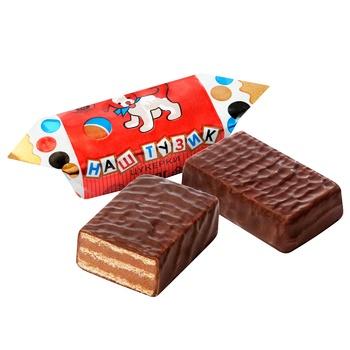 Цукерки Бісквіт Шоколад Тузик - купити, ціни на Восторг - фото 1