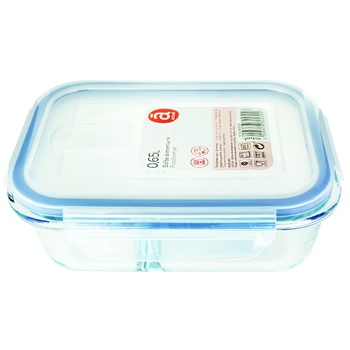 Actuel Container Rectangular Double Glass 0,65l - buy, prices for Auchan - photo 1