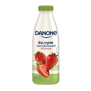 Йогурт Danone клубника 1,5% 800г - купить, цены на Таврия В - фото 1