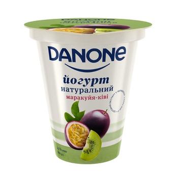 Йогурт Данон Маракуйя-киви 2,5% 260г - купить, цены на Фуршет - фото 1