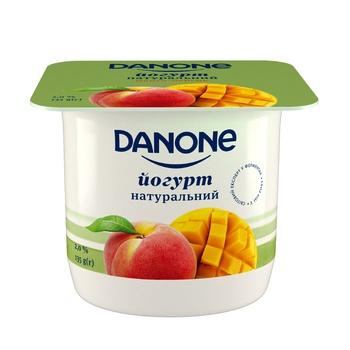 Danone Mango-Peach Flavored Yogurt 2% 135g