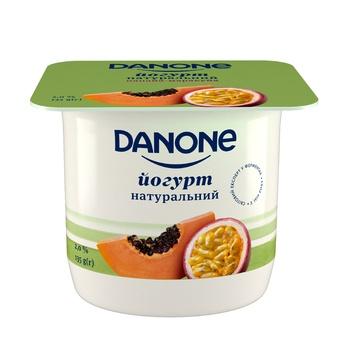 Йогурт Danone папайя-маракуйя 2% 135г - купить, цены на Ашан - фото 1