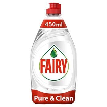 Жидкость для мытья посуды Fairy Pure & Clean 450мл - купить, цены на Фуршет - фото 1
