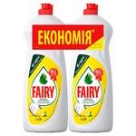 Fairy Lemon Dishwashing Detergent 2х1l