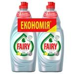 Средство для мытья посуды Fairy Platinum Лимон и Лайм 2шт x 650мл