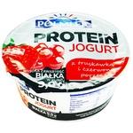 Йогурт Polmlek Protein с клубникой и красной смородиной 150г