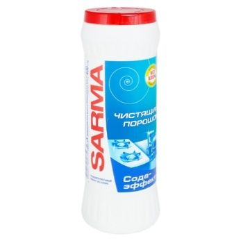 Порошок чистящий Sarma Сода-эффект 400г - купить, цены на Ашан - фото 1