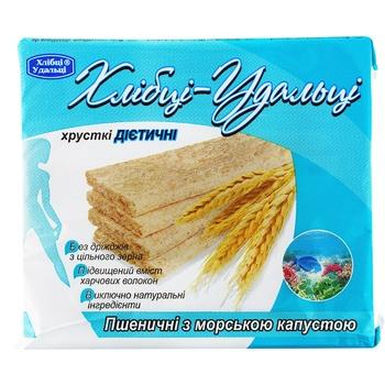 Хлебцы Удальци пшеничные с морской капустой хрустящие диетические 100г
