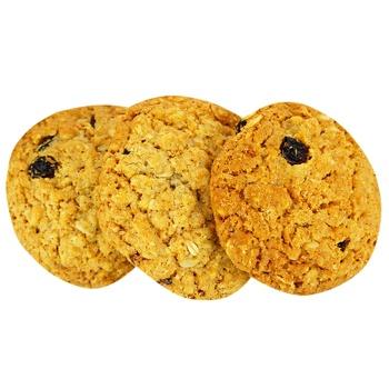 Печенье сдобное овсяное с изюмом - купить, цены на Фуршет - фото 1