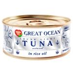 Тунець Tropic Life Graet Ocean цілий у рисовій олії 185мл - купити, ціни на Фуршет - фото 1