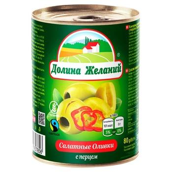 Dolina Zhelaniyj Salad Olives with Pepper 300ml - buy, prices for Furshet - image 1