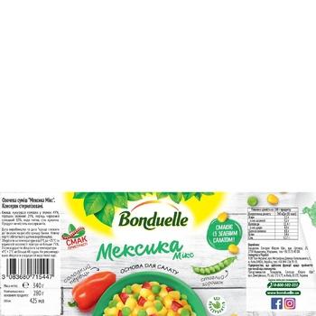 Овощная смесь Bonduelle Мексика Микс ж/б 425 мл - купить, цены на МегаМаркет - фото 2