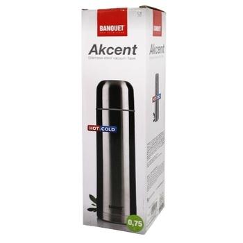 Термос Akcent Banquet 0,75л - купить, цены на МегаМаркет - фото 1