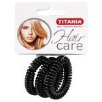 Резинка для волос Titania 7917 силиконовая черная 3шт
