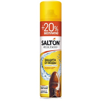 Salton For Smooth Leather, Suede, Nubuck And Fabric Products Against Water Protective Spray 300ml - buy, prices for Tavria V - image 1