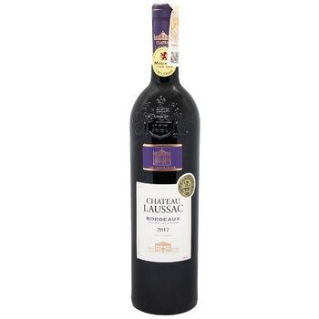 Chateau Laussac Red Dry Wine 13% 0,75l - buy, prices for CityMarket - photo 1