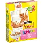 Корм сухой Friskies Junior С курицей молоком и овощами для котят 270г