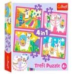 Trefl Llama on Vacation 4in1 Puzzle 207elements