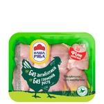 Филе бедра Наша Ряба цыпленка-бройлера охлажденное (упаковка РЕТ ~1,1кг) - купить, цены на Метро - фото 1