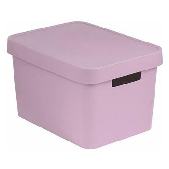 Ящик для зберігання Curver 40520792 Infinity з кришкою рожевий 17л