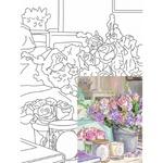 Rosa Start Still Life #25 Canvas on Cardboard with an Outline 30х40cm